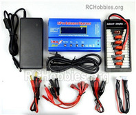 HG P408 Upgrade Charger unit Parts. It Can charger 2s or 3s 6x battery at the same time(Power & B6 Charger & 1-To-6 Parallel charging Board. WE0021