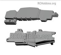 HG P408 Bottom fuel tank cap+bottom frame. HMVEE-(083-084)