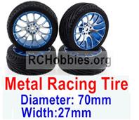 Subotech BG1520 Upgrade Metal Racing Tire(4 set)-Metal Wheel hub+Tire