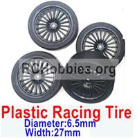 Subotech BG1520 Upgrade Plastic Racing Tire(4 set)-Plastic Wheel hub+Tire