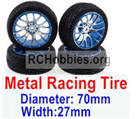 Subotech BG1521 Upgrade Metal Racing Tire(4 set)-Metal Wheel hub+Tire