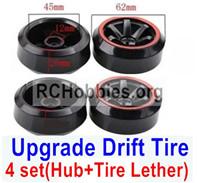 Subotech BG1521 Upgrade Plastic Drift Tire(4 set)-Plastic Wheel hub+Tire