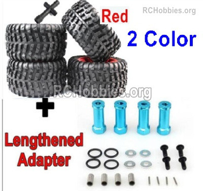Subotech BG1525 Upgrade Large Wheel Tires + Upgrade Metal Lengthed 29mm adapter. Run more stable. Red or Green Color.