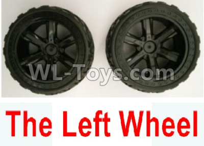 Wltoys 10402 RC Car Parts-The whole Left wheel(2 set-Include the Wheel hub and Tire lether)-10402.0855,Wltoys 10402 Parts