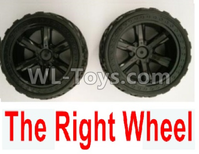 Wltoys 10402 RC Car Parts-The whole Right wheel(2 set-Include the Wheel hub and Tire lether)-10402.0856,Wltoys 10402 Parts