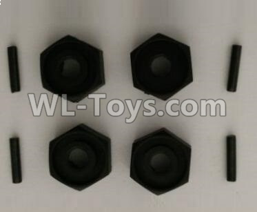 Wltoys 10402 RC Car Parts-Hexagon wheel seat and Pin Parts(each 4pcs)-10402.0850,Wltoys 10402 Parts
