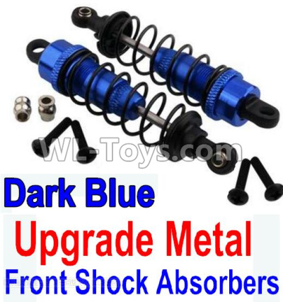Wltoys 10402 RC Car Upgrade Metal Front Shock Absorbers(2pcs)-Darke Blue,Wltoys 10402 Parts