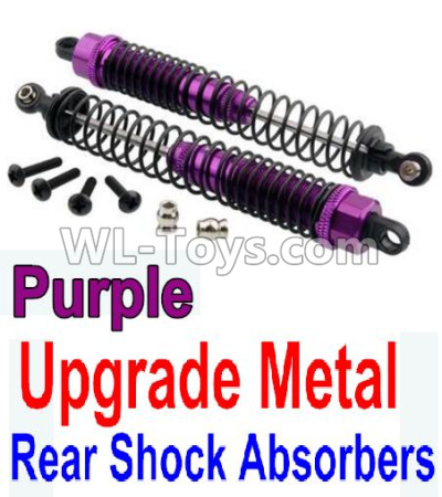 Wltoys 10402 RC Car Upgrade Metal Rear Shock Absorbers(2pcs)-Purple,Wltoys 10402 Parts