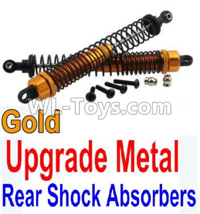 Wltoys 10402 RC Car Upgrade Metal Rear Shock Absorbers(2pcs)-Gold,Wltoys 10402 Parts