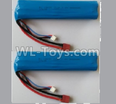 Wltoys 10402 RC Car Parts-battery-7.4V 3000MAH 15C Battery(2pcs)-136x37x19mm-10402.0884,Wltoys 10402 Parts