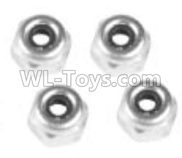Wltoys 10402 RC Car Parts-M4 locknut(4pcs)-L959-65,Wltoys 10402 Parts