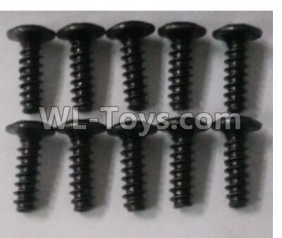Wltoys 10402 RC Car Parts-Round head cross with self-tapping screws Parts(10pcs)-3X10PWB-W6-10402.0871,Wltoys 10402 Parts