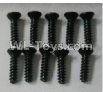 Wltoys 10402 RC Car Parts-Cross countersunk head tapping screw(10pcs)-ST3X12KB-D5.5-10402.0872,Wltoys 10402 Parts