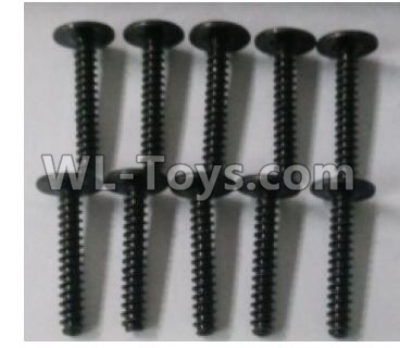 Wltoys 10402 RC Car Parts-Round head cross with self-tapping screws Parts(10pcs)-ST3x18PWB-W8-10402.0874,Wltoys 10402 Parts