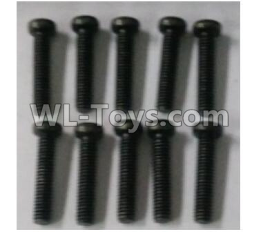 Wltoys 10402 RC Car Parts-Round head cross machine screw(10pcs)-3X14PM-D5-10402.0875*,Wltoys 10402 Parts