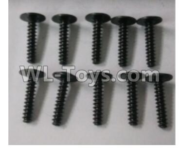 Wltoys 10402 RC Car Parts-Round head cross with self-tapping screws Parts(10pcs)-ST3x14PWB-W8-10402.0876,Wltoys 10402 Parts