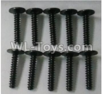Wltoys 10402 RC Car Parts-Round head cross with self-tapping screws Parts(10pcs)-ST3x16PWB-W8-10402.0877,Wltoys 10402 Parts