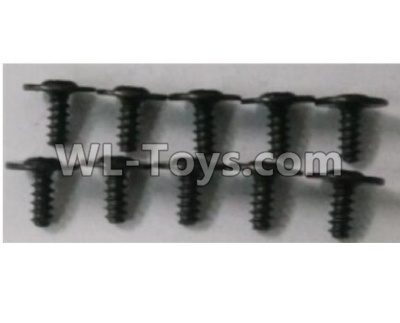 Wltoys 10402 RC Car Parts-10402.0878 Round head cross with self-tapping screws Parts(10pcs)-ST2.6x6PWB7,Wltoys 10402 Parts