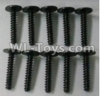 Wltoys 10402 RC Car Parts-10402.0879 Round head cross with self-tapping screws Parts(10pcs)-ST2.6x16PWB-W6,Wltoys 10402 Parts