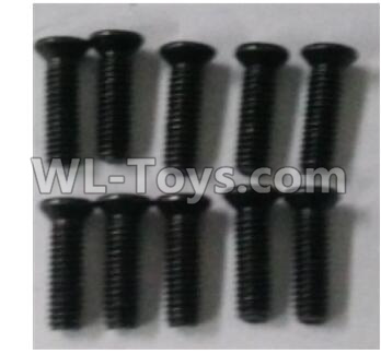 Wltoys 10402 RC Car Parts-10402.0881 Cross countersunk head screw(10pcs)-2.5X9KM-D4.0,Wltoys 10402 Parts