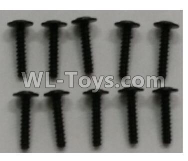 Wltoys 10402 RC Car Parts-10402.0892 Round head cross with self-tapping screws Parts(10pcs)-ST2.5x12PWB-W6,Wltoys 10402 Parts