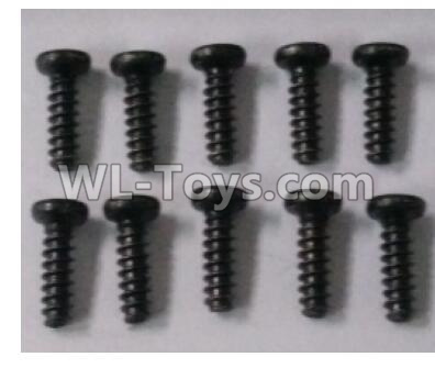 Wltoys 10402 RC Car Parts-12401.0254 Round head self tapping screw(10pcs)-ST2.5X8PWM-W6,Wltoys 10402 Parts