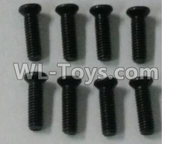 Wltoys 10402 RC Car Parts-12428.0114 Cross countersunk head screw(8pcs)-2.5X8KM-D4.5,Wltoys 10402 Parts