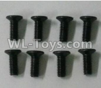 Wltoys 10402 RC Car Parts-12428.0117 Cross countersunk head screw(8pcs)-3X8KM-D5.5,Wltoys 10402 Parts
