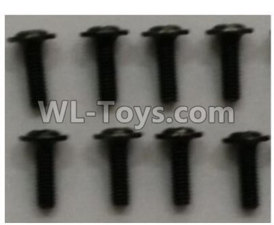 Wltoys 10402 RC Car Parts-12428.0125 Crosshead head with Media screw(8pcs)-ST3x10PB-D5.5,Wltoys 10402 Parts