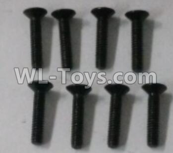 Wltoys 10402 RC Car Parts-18428.0426 Cross countersunk head screw(8pcs)-2X10KM-D4,Wltoys 10402 Parts