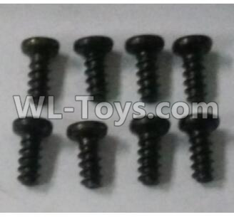 Wltoys 10402 RC Car Parts-18428-B.0554 Round head screw(8pcs)-ST2.3x4PB-D3.5,Wltoys 10402 Parts