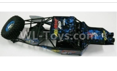 Wltoys 10428-2 RC Car Parts-Whole Car shell unit(Include Car shell,All Rollcage)-10428-2.0754,Wltoys 10428-2 Parts