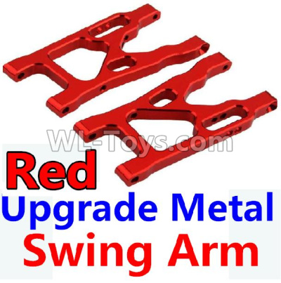 Wltoys 10428-B2 RC Car Upgrade Metal Swing Arm Parts-Red-2pcs-K949-09,Wltoys 10428-B2 Parts
