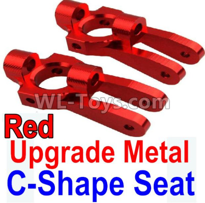 Wltoys 10428-B2 RC Car Upgrade Metal C-Shape Seat Parts-Red-2pcs-K949-10,Wltoys 10428-B2 Parts