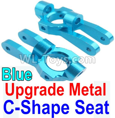 Wltoys 10428-B2 RC Car Upgrade Metal C-Shape Seat Parts-Blue-2pcs,Wltoys 10428-B2 Parts