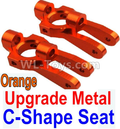 Wltoys 10428-B2 RC Car Upgrade Metal C-Shape Seat Parts-Orange-2pcs,Wltoys 10428-B2 Parts