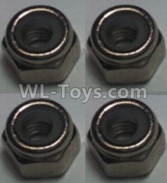 Wltoys 10428-B2 RC Car Parts-M2.5 Locknut(4pcs),Wltoys 10428-B2 Parts