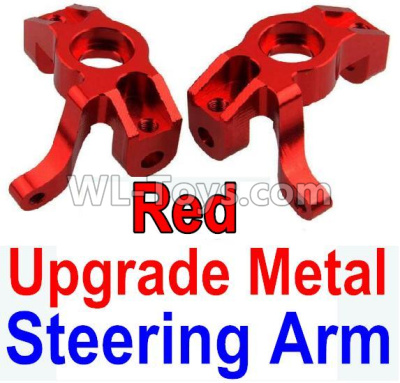 Wltoys 10428-B2 RC Car Upgrade Metal Steering arm-Red-2pcs,Wltoys 10428-B2 Parts