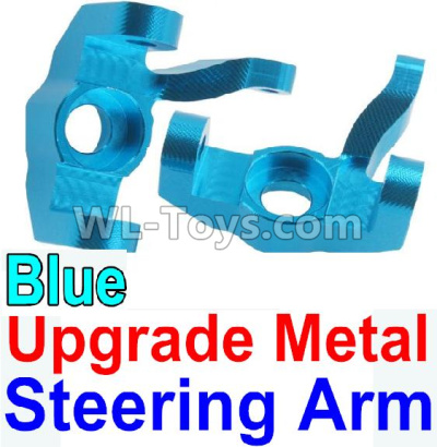 Wltoys 10428-B2 RC Car Upgrade Metal Steering arm-Blue-2pcs,Wltoys 10428-B2 Parts