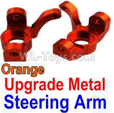 Wltoys 10428-B2 RC Car Upgrade Metal Steering arm-Orange-2pcs,Wltoys 10428-B2 Parts