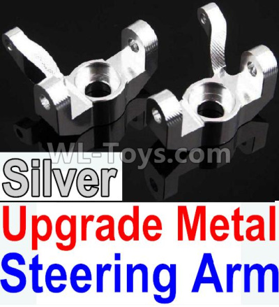 Wltoys 10428-B2 RC Car Upgrade Metal Steering arm-Silver-2pcs,Wltoys 10428-B2 Parts