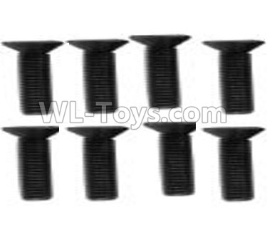 Wltoys 10428-B2 RC Car Parts-Flat head machine screw -M2.5x8(8pcs)-10428-2.0342,Wltoys 10428-B2 Parts