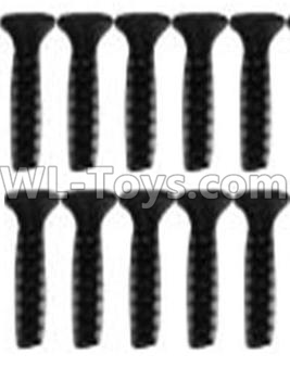Wltoys 10428-B2 RC Car Parts-Countersunk head inner hexagon Screws-M2.6X10-Black zinc plated(10PCS)-A929-63,Wltoys 10428-B2 Parts