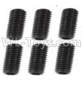 Wltoys 10428-B2 RC Car Parts-Jimi screws-M3X8-Black zinc plated(6PCS)-A929-85,Wltoys 10428-B2 Parts