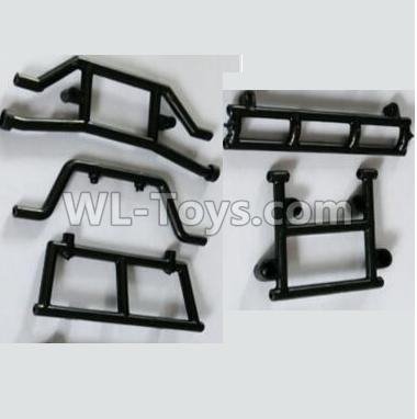 Wltoys 10428-B2 RC Car Parts-Front and Rear Anti-collision Fixed seat10428-B.0318,Wltoys 10428-B2 Parts