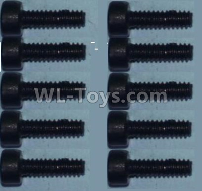 Wltoys 10428-B2 RC Car Parts-Cup head inner hexagon Screws-M2X8-(10pcs)-0334,Wltoys 10428-B2 Parts