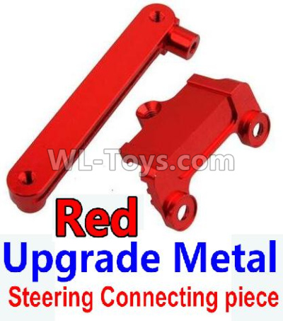 Wltoys 10428-B2 RC Car Upgrade Metal Steering connecting piece-Red,Wltoys 10428-B2 Parts