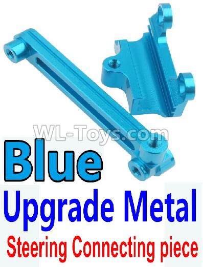 Wltoys 10428-B2 RC Car Upgrade Metal Steering connecting piece-Blue,Wltoys 10428-B2 Parts