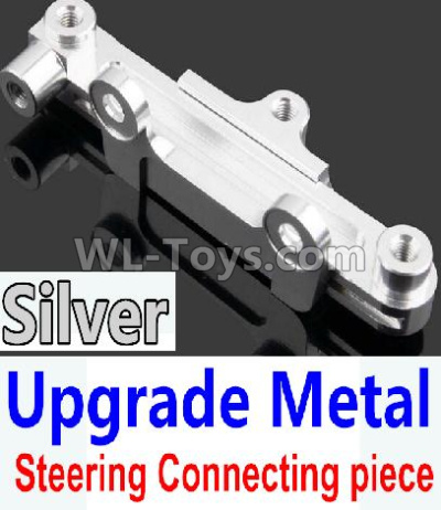Wltoys 10428-B2 RC Car Upgrade Metal Steering connecting piece-Silver,Wltoys 10428-B2 Parts