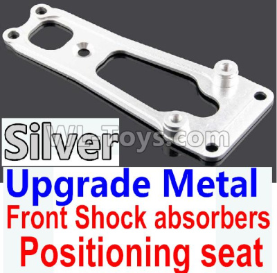 Wltoys 10428-B2 RC Car Upgrade Metal Front Shock absorbers Positioning seat-Silver-K949-16,Wltoys 10428-B2 Parts